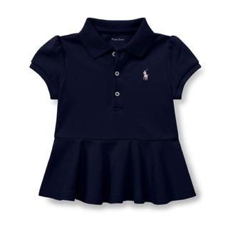 ラルフローレン(Ralph Lauren)の新品タグつき ラルフローレンベビーペプラムポロシャツ 90(Tシャツ/カットソー)