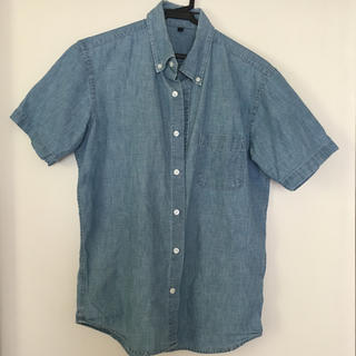 ムジルシリョウヒン(MUJI (無印良品))の無印 シャツ 半袖 ブルー used(シャツ)