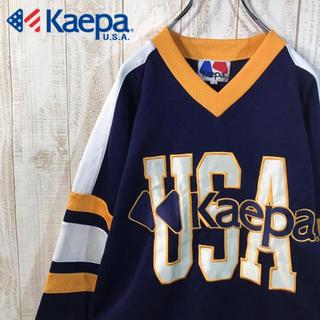 ケイパ(Kaepa)の【好配色】ケイパ ゲームシャツ 90s ビッグシルエット オーバーサイズ (スウェット)