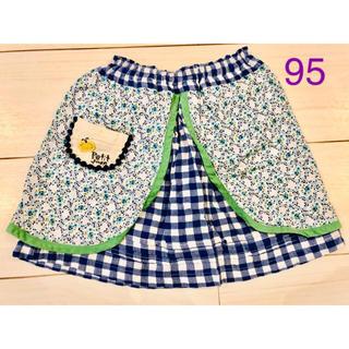 プチジャム(Petit jam)のUSED☆プチジャム☆2枚重ねスカート☆95cm(スカート)