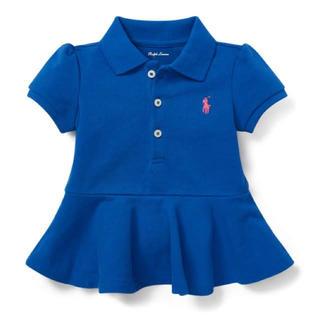 ラルフローレン(Ralph Lauren)の新品タグつき ラルフローレンベビーペプラムポロシャツ90(Tシャツ/カットソー)