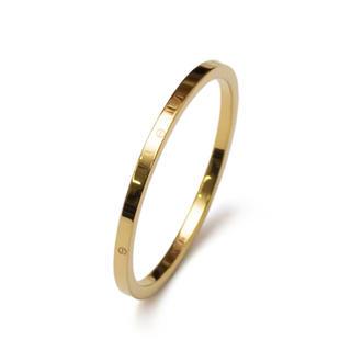 サージカルステンレス 1㎜ピンキーリング関節リング レディース メンズ(リング(指輪))
