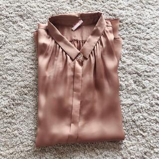 Adam et Rope' - アダムエロペ    ノースリーブシャツ ゴールドブラウン色 Mサイズ