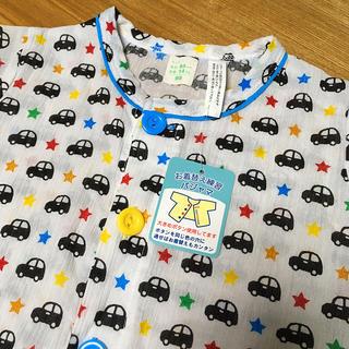 ニシマツヤ(西松屋)の男の子 パジャマ 95 半袖 半そで 車柄 クルマ 腹巻 ズボン さわやか 上下(パジャマ)