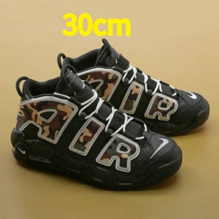 NIKE - NIKE AIR MORE UPTEMPO ブラックカモ