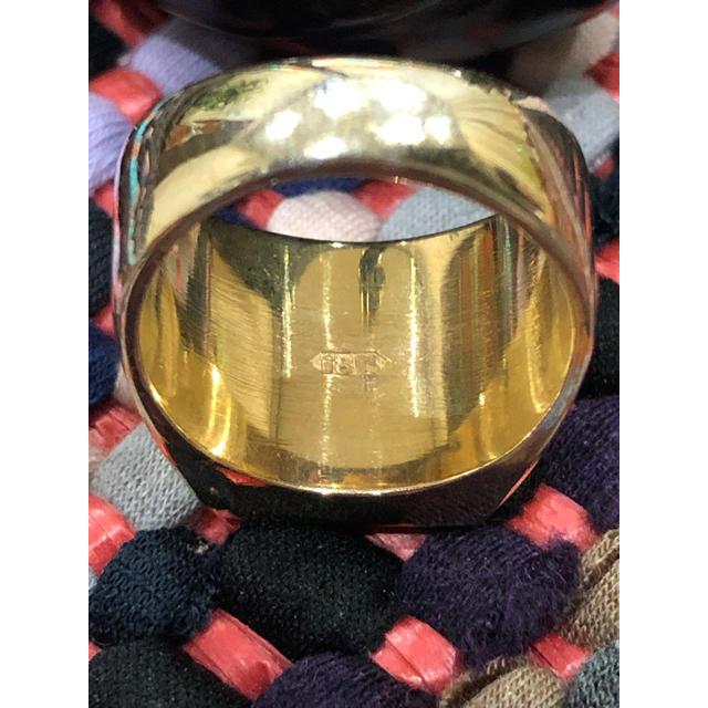 印台リング18k 刻印  14.3g メンズのアクセサリー(リング(指輪))の商品写真