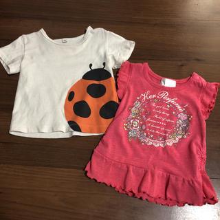 ムジルシリョウヒン(MUJI (無印良品))の80センチ Tシャツ 2枚セット(Tシャツ)