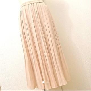 ユニクロ(UNIQLO)の新品未使用UNIQLO プリーツスカート ユニクロ ロングスカート(ロングスカート)