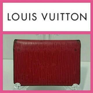 ルイヴィトン(LOUIS VUITTON)のルイヴィトン パスケース エピ 赤色(名刺入れ/定期入れ)