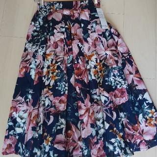 シマムラ(しまむら)の新品☆花柄スカート(ひざ丈スカート)