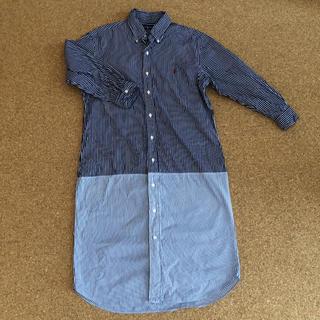 ラルフローレン(Ralph Lauren)のRalph Lauren ラルフローレン  ストライプ切り替えシャツワンピース(ひざ丈ワンピース)