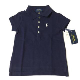 ラルフローレン(Ralph Lauren)の新品 タグ付き ラルフローレン ポロシャツ 3T 90㎝ ネイビー (Tシャツ/カットソー)