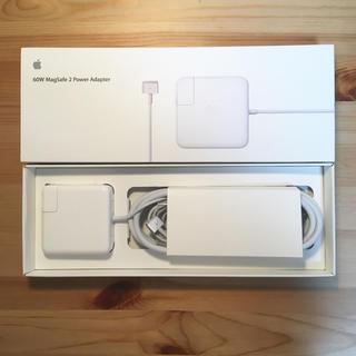 アップル(Apple)の【極美品】60w magsafe power adapter(PC周辺機器)