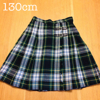 ファミリア(familiar)の美品✨130 ファミリグリーンチェックのスカート(スカート)