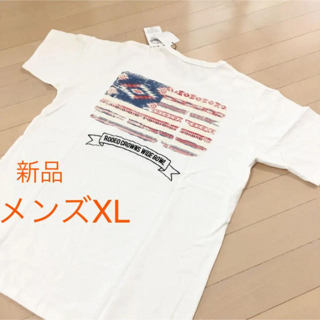 RODEO CROWNS WIDE BOWL(ロデオクラウンズワイドボウル)のメンズXL✨新品✨ ロデオクラウンズ❤️完売 バックロゴ刺繍Tシャツ メンズのトップス(Tシャツ/カットソー(半袖/袖なし))の商品写真