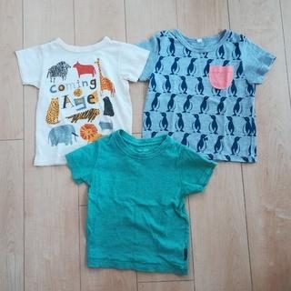 ニシマツヤ(西松屋)のキッズTシャツ3枚セット 100センチ(Tシャツ/カットソー)