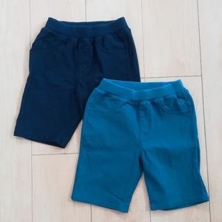 ニシマツヤ(西松屋)のキッズハーフパンツ二枚セット 100センチ(パンツ/スパッツ)