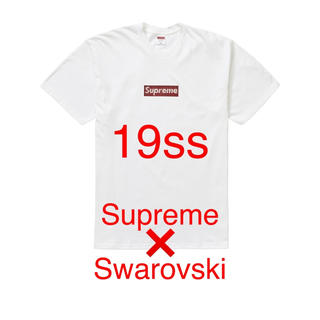 Supreme - Supreme Swarovski box Logo tee Lサイズ