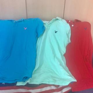 アメリカンイーグル(American Eagle)のAE(アメリカンイーグル)ポロシャツ三枚セット(ポロシャツ)