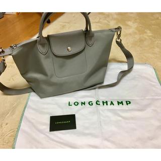 LONGCHAMP - Longchamp ショルダーバッグ ネオ ルプリアージュ S ライトグレー