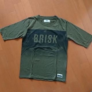 イッカ(ikka)のikka イッカ 5分袖 Tシャツ 半袖 160 カーキ 中古(Tシャツ/カットソー)
