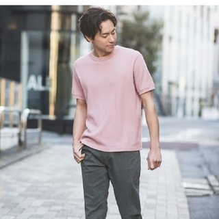 ユニクロ(UNIQLO)の新品ユニクロ ワッフルクルーネックT メンズ(Tシャツ/カットソー(半袖/袖なし))