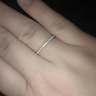 15号)ハーフエタニティAAA級CZダイヤモンド リング(リング(指輪))