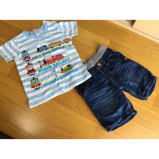 ニシマツヤ(西松屋)の男の子用90サイズ 上下セット 夏用 トーマス(Tシャツ/カットソー)