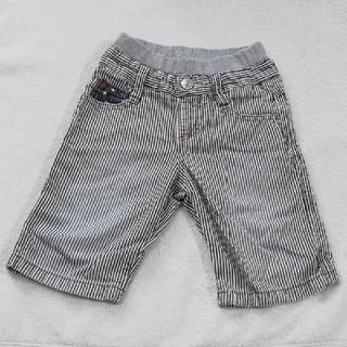 ハッシュアッシュ(HusHush)のHUSHUSH  星柄後ろポケット付きストライプズボン100cm(パンツ/スパッツ)