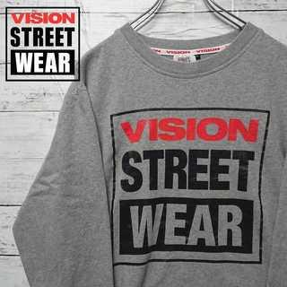VISION STREET WEAR デカロゴ トレーナー 薄手柔らか N21(スウェット)