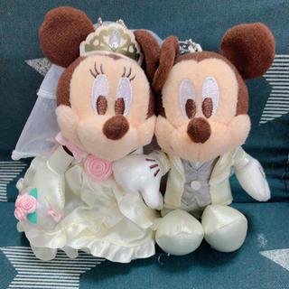 ミッキーマウス - ウェディング ミッキー ミニー ぬいぐるみ
