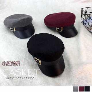 【新品】キャスケット レディース 小顔効果 キャップ ハンチング つば付き 帽子