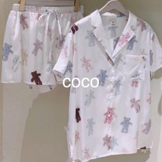 テディベアサテンシャツ&ショートパンツ