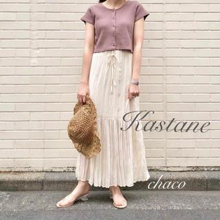 Kastane - 新品タグ¥6372【Kastane】ワッシャーシフォンスカート ロングスカート
