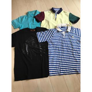 ユニクロ(UNIQLO)のメンズ ポロシャツ Tシャツ 4点セット(ポロシャツ)