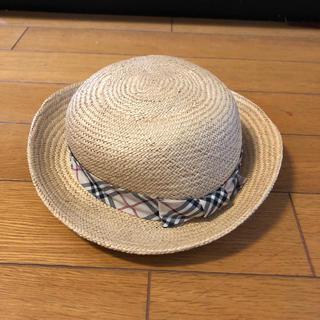 バーバリー(BURBERRY)のバーバリー キッズ麦わら帽子(帽子)
