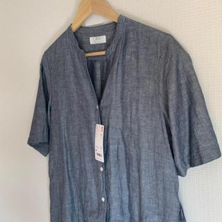 ユニクロ(UNIQLO)のUNIQLO リネンコットンシャツ ワンピース(ロングワンピース/マキシワンピース)