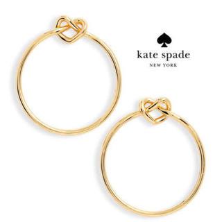 kate spade new york - 【新品¨̮♡︎】ケイトスペード ラブミーノット フープピアス