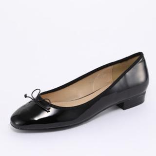 オリエンタルトラフィック(ORiental TRaffic)のOrtensia ブラック レイン バレエパンプス(レインブーツ/長靴)