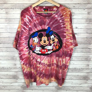 ディズニー(Disney)の90'sDisney ディズニー ミッキーマウス  タイダイ柄 Tシャツ メンズ(Tシャツ/カットソー(半袖/袖なし))