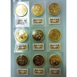 天皇陛下即位記念の10万円金貨 9枚 合計270g