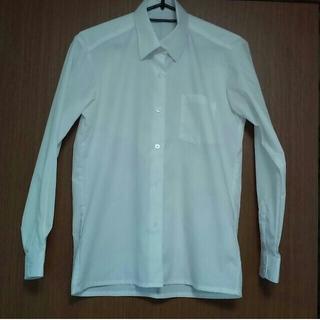 シマムラ(しまむら)の女児スクールシャツ   白  160サイズ   美品   形態安定(ブラウス)