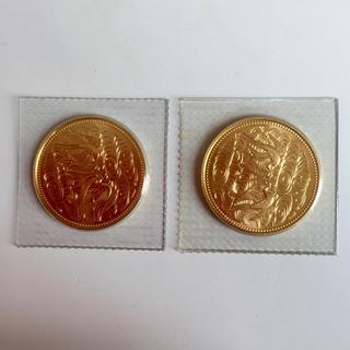 天皇陛下御在位60年記念 10万円金貨 2枚  十万円金貨
