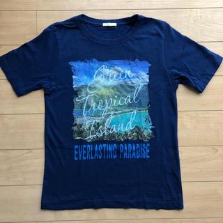 GU - ジーユー gu tシャツ 男の子 140 ネイビー