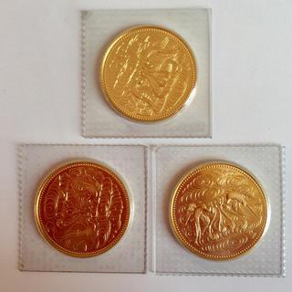 天皇陛下御在位60年記念 10万円金貨 3枚  十万円金貨
