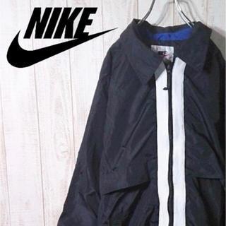 ナイキ ナイロンジャケット バックビッグロゴ 袖口ロゴ 銀タグ ヴィンテージ