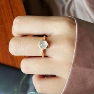 210  k18ゴールドリング  翡翠リング  ダイヤモンドリング 指輪  ピン(リング(指輪))