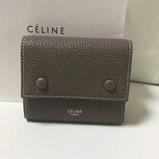 セリーヌ(celine)のCELINE セリーヌ コンパクト三つ折りミニ財布(折り財布)