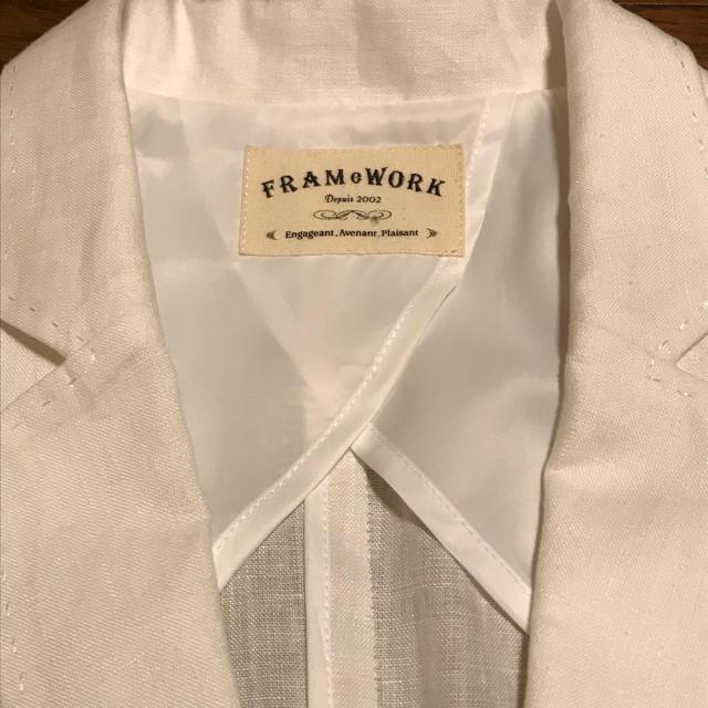 FRAMeWORK(フレームワーク)のFRAMeWORK★新品フレンチリネンジャケット レディースのジャケット/アウター(テーラードジャケット)の商品写真