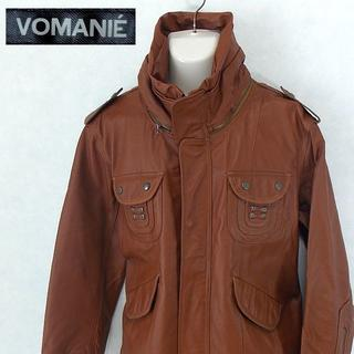 【VOMANIE】 極美品 ボマニエ ブラウンレザージャケット 天然皮革 豚革